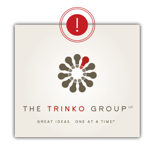 Negative Logo Space for Trinko Group