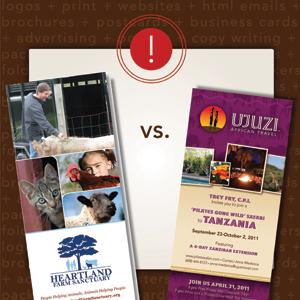 Brochure vs Palmcard Print Marketing