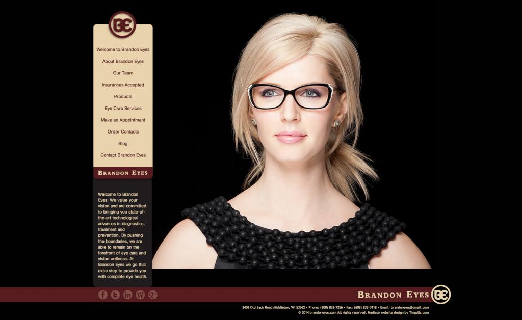 Tingalls Graphic Design Brandon Eyes Website