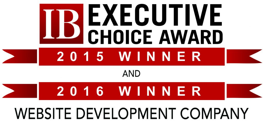 Tingalls Graphic Design wins InBusiness Magazine's Executive Choice Award for Best Website Development Company 2015 and 2016