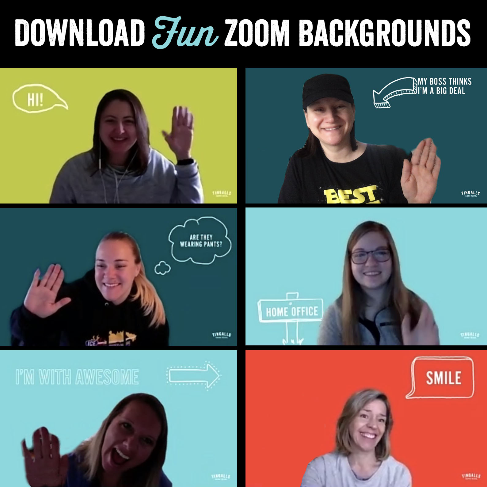 Tingalls Zoom Meeting Backgrounds