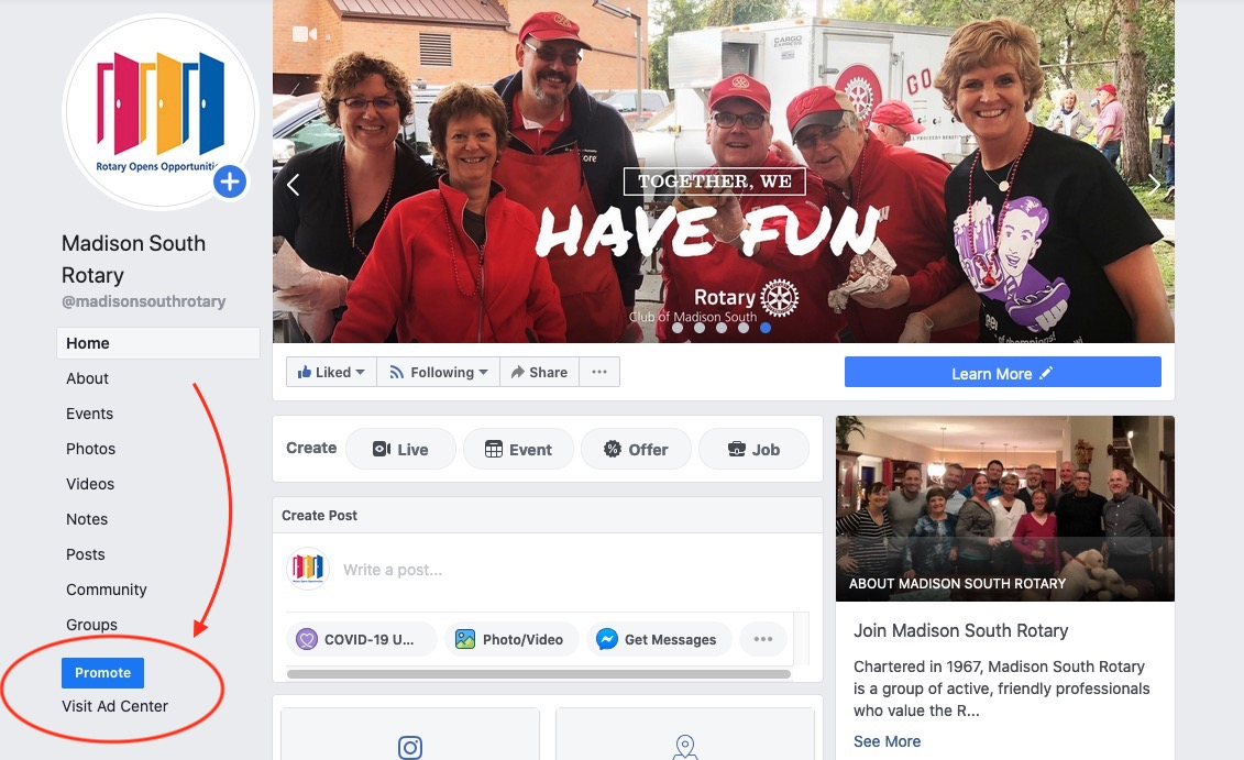 Madison South Rotary Facebook Page